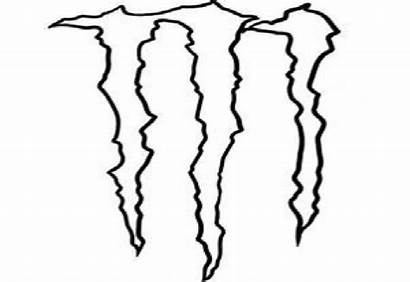 Monster Energy Drink Coloring Outline Pages Vector