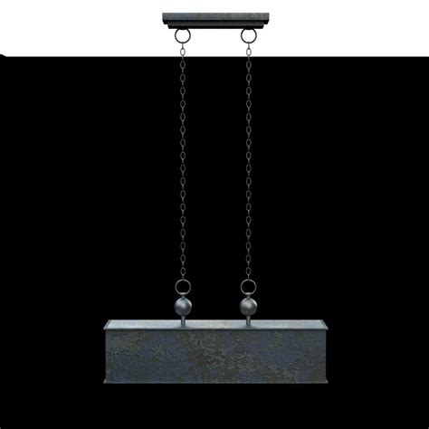 3d industrial pendant uttermost albiano rectangle