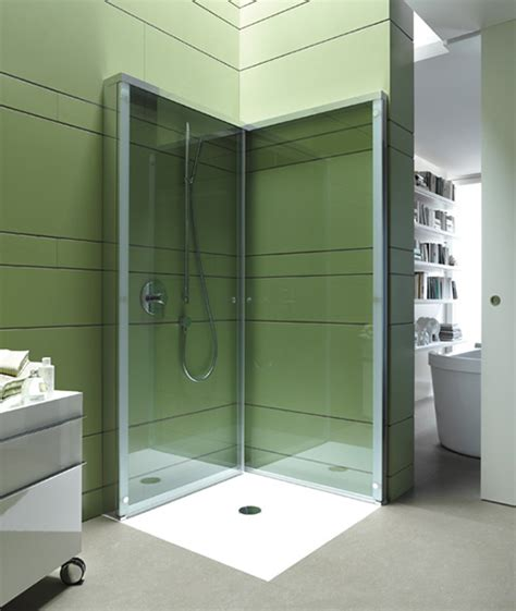 foldable shower folding shower enclosure by duravit offers extra openspace in compact bathroom