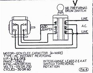 Help Wiring Ge Motor To Furnas Forward  Reverse Switch