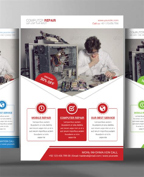 computer psd templates download 24 computer repair flyer templates psd ai eps format