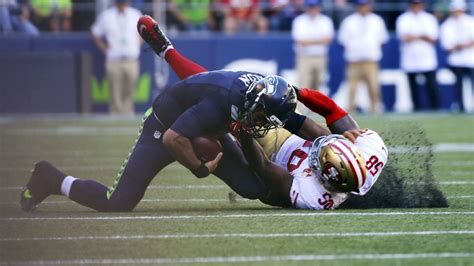 seattle seahawks quarterback russell wilson injured  win