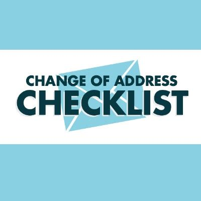 change  address checklist   notify  moving