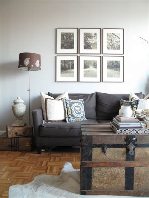 charcoal sofa living room ideas charcoal gray vvlvet sofa contemporary living room elle decor