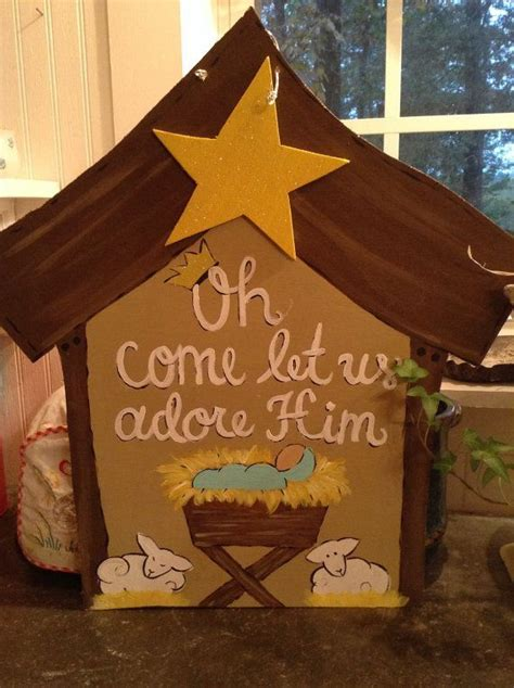 Decorating Ideas For Nativity by 1000 Ideas About Door Hangers On