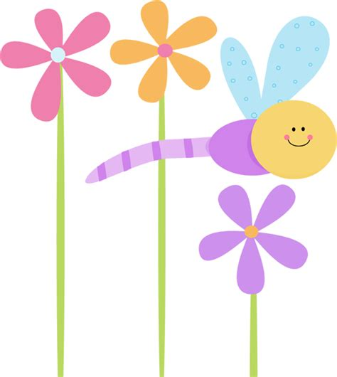 pretty dragonfly clipart dragonflies and flowers clipart