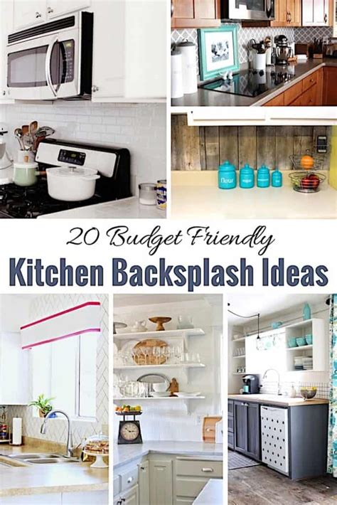 20 Budget Friendly Kitchen Backsplash Ideas  Shabbyfufucom