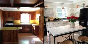 wood paneling makeovers how to update wood paneling With kitchen colors with white cabinets with wooden panel wall art