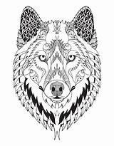 Wolf Mandala Coloring Mandalas Wall Soul sketch template