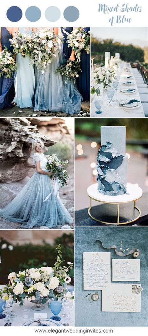 prettiest blue wedding color combos
