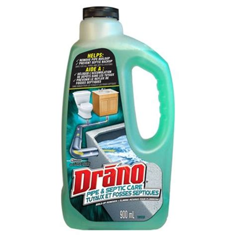 Drano To Clean Bathtub by Drano 900ml Pipe Septic Care Build Up Remover Lowe S