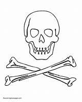 Crossbones Warship Cliparts sketch template