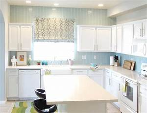 Stunning kitchen paint colors with white cabinets and for Kitchen colors with white cabinets with wall art stone