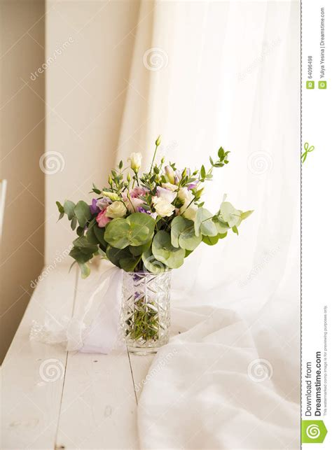 Flowers For Windowsill by Beautiful Flowers On Windowsill Background Stock Photo