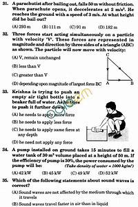 Nstse 2009 Solved Question Paper For Class Ix