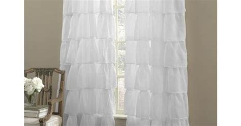 gypsy ruffled window curtain panel white 60wx120l