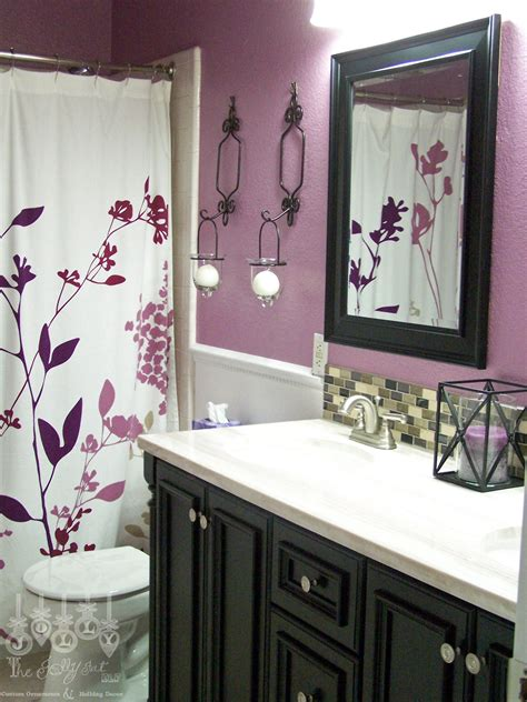 Purple Color Bathroom by For Second Bathroom Purple And Black Maybe A Black Shower