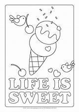 Coloring Ice Cream Pages Parlor sketch template