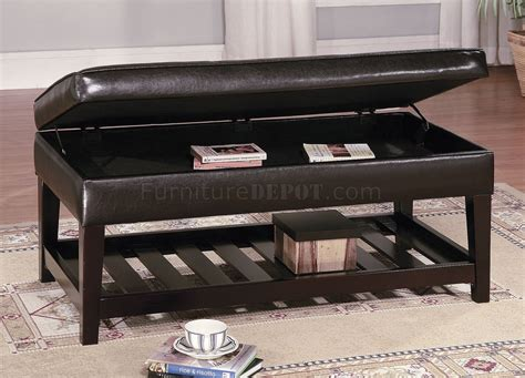 Storage Bench And Table by Leather Top Bench Coffee Table W Shelf Slat Storage Base