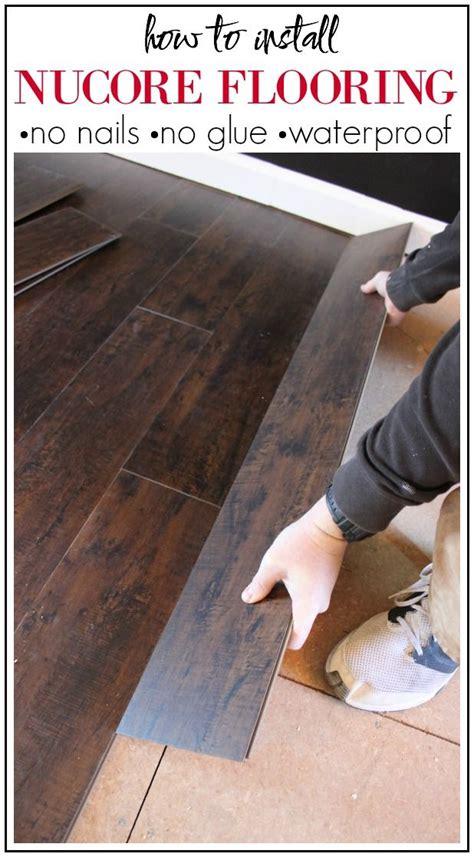 install nucore flooring luxury vinyl plank