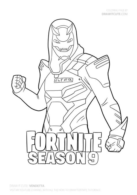 disegni da colorare fortnite season 8 how to draw vendetta step by step guide with coloring
