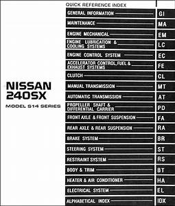 1996 Nissan 240sx Repair Shop Manual Original