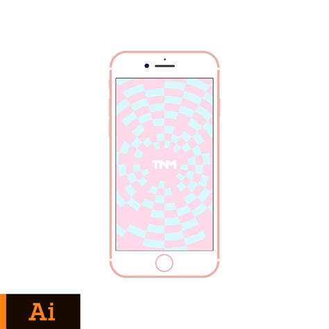 Iphone Template Flat Vector Mockup Illustrator Template For Apple Iphone 7