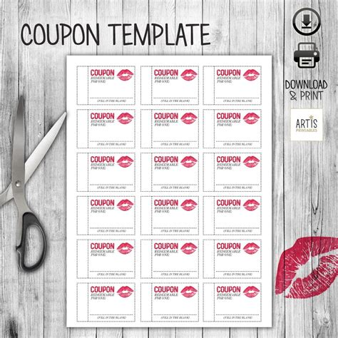 empty love coupons   examples  forms