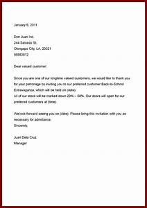 simple business letter sample the letter sample With business letter format sample