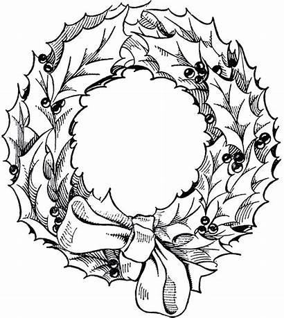 Wreath Christmas Clip Graphic Clipart Holiday Drawing
