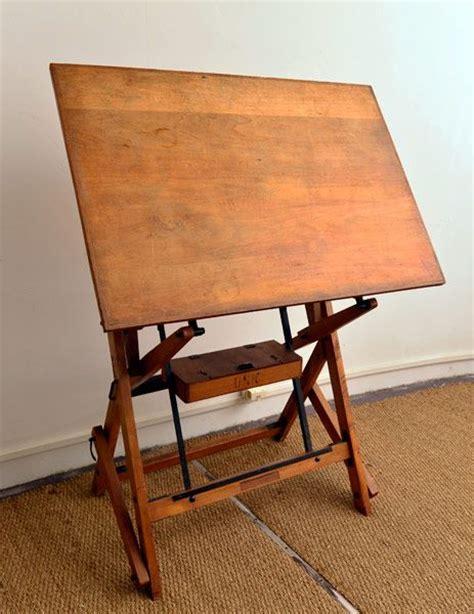 chaise architecte table à dessin ou table architecte tout en bois première partie xx contrepoids et axes en