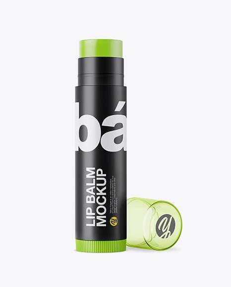 I tried to make this mockup as customizable as it can be. Opened Matte Lip Balm Tube With Transparent Cap PSD Mockup ...
