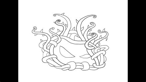 tangle kelp plants  zombies    draw klubok laminariya vodorosli kak narisovat prosto