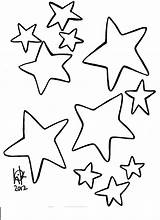 Star Printable Outline Coloring Shooting Template Popular sketch template
