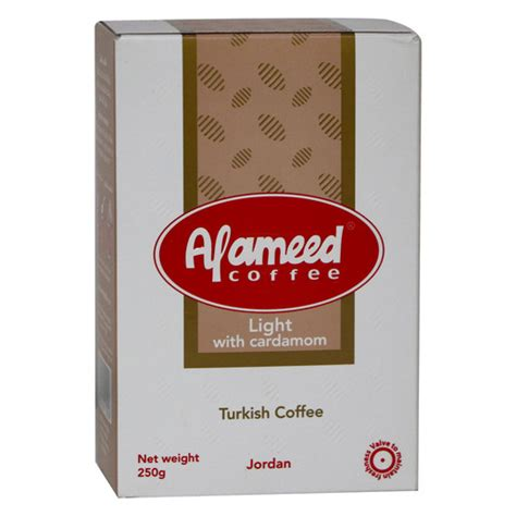 It is produced from the finest and best arabica coffee beans. Buy Al Ameed Turkish Coffee Light Cardamom 250g Online - Lulu Hypermarket KSA