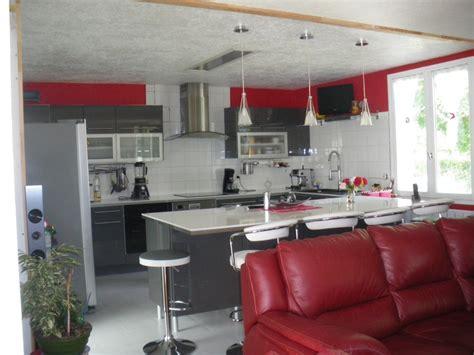 cuisine grise et bordeaux cuisine grise et photo 1 5 3511412