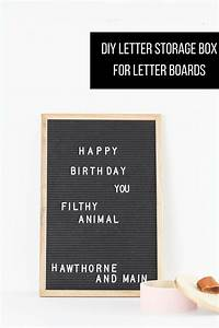 diy letter storage box for letter boards hawthorne and main With board that you put letters on