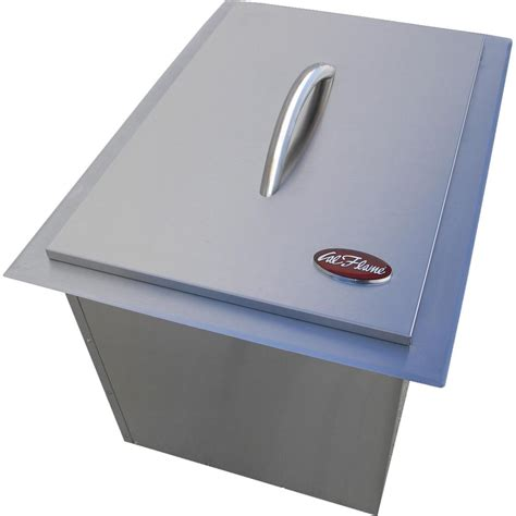 cal flame outdoor kitchen stainless cal flame stainless steel drop in ice bin bbq14864