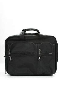 tumi unisex rolling overnight medium rectangle luggage bag black ebay