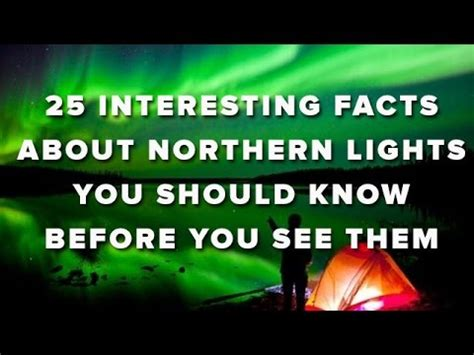 facts about the northern lights northern lights videolike