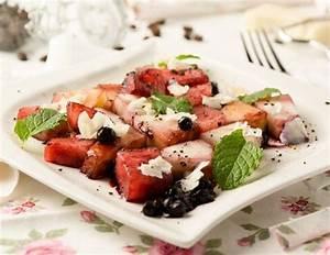 Melone Mit Schafskäse : obstsalat mit melone heidelbeeren und schafsk se rezept ~ Watch28wear.com Haus und Dekorationen