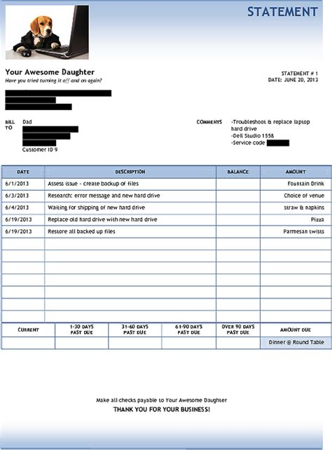heres  invoice    time   roped