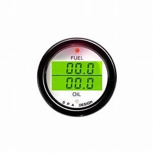 Spa Digital Dual Gauge Fuel  U0026 Oil Pressure From Merlin