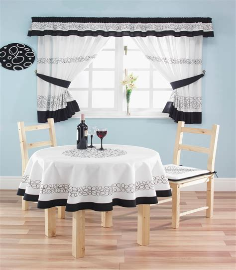 modern country kitchen curtains  tie backs