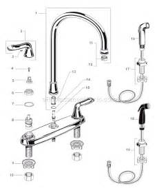 kitchen faucet adapter american standard 4275 551 parts list and diagram