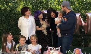 Ozzy Osbourne, 71, celebrates his granddaughter Minnie's ...