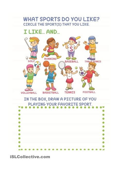 sports  kids worksheets  kids kindergarten