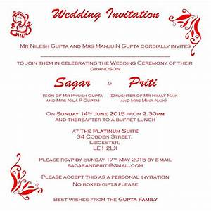 hindu wedding invitation wordings click here to view our With indian wedding invitation word format