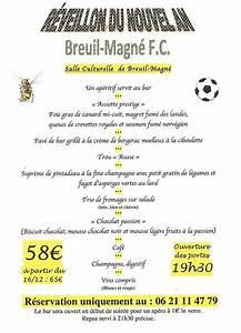 Actualit Le Menu Du Rveillon Du Nouvel An Club