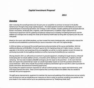 capital expenditure proposal template investment proposal With capital expenditure proposal template